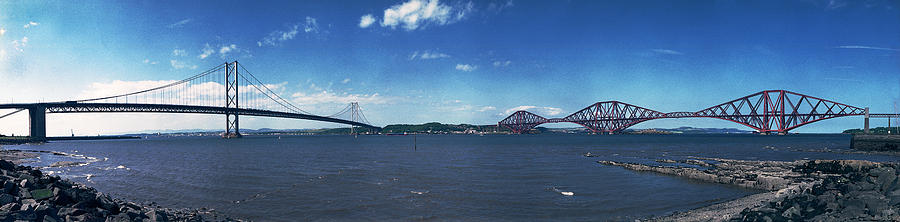 Bridge Photograph - Forth Road And Railway Bridges by Donald Buchanan
