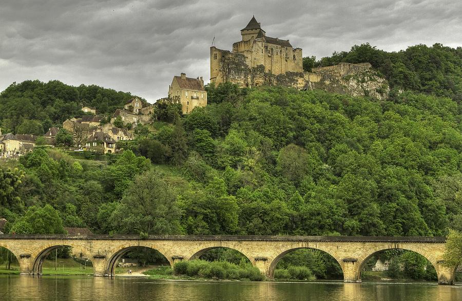Beynac Photograph - Fortified Castle Of Beynac In Dordogne France by Arabesque Saraswathi