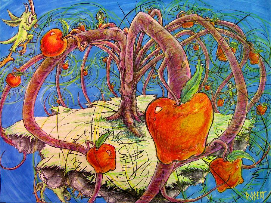 Colored Pencil Drawing - Fortified Fruit by Michael Schneider