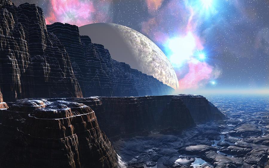 Fortress Of Nimmbl Digital Art by David Jackson