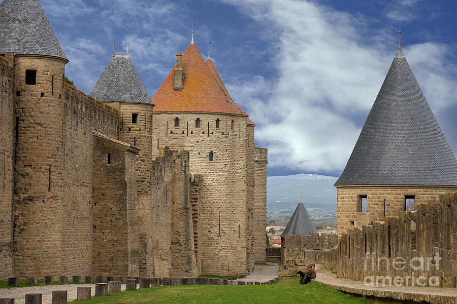 Fortress Wall Of Carcassonne Photograph