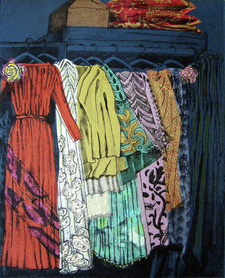 Fortuny Mixed Media - Fortuny Closet #4 by Karen Coggeshall