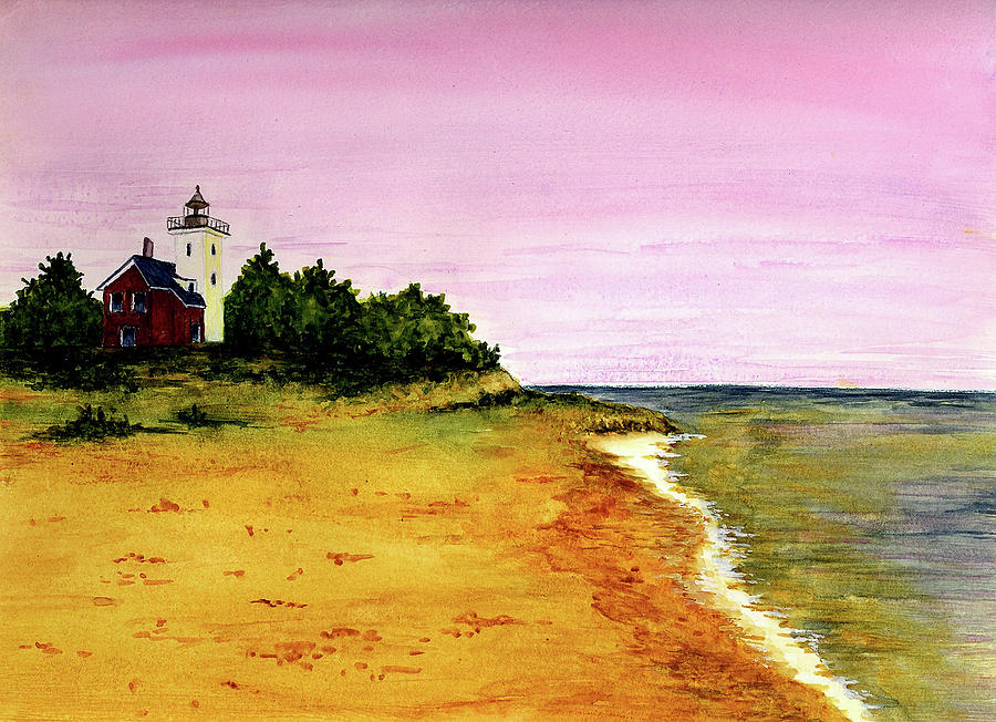 Forty Mile Point Lighthouse Painting