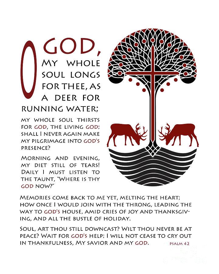 Catholic Digital Art - Forty Second Psalm by Lawrence Klimecki