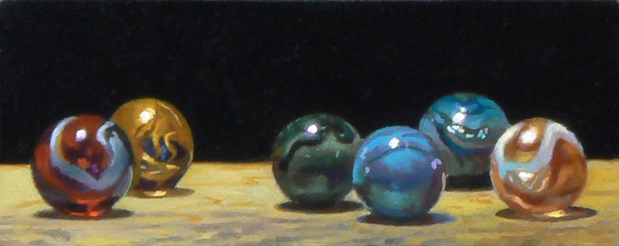 Antique Marbles Painting - Forum Number 2 by Jeffrey Hayes
