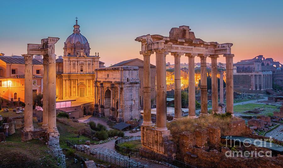 Europe Photograph - Forum Romanum Dawn by Inge Johnsson