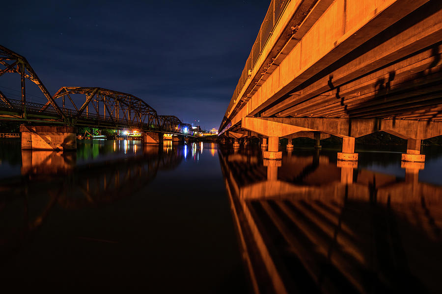 Forward Progress Reflected at Night by James-Allen