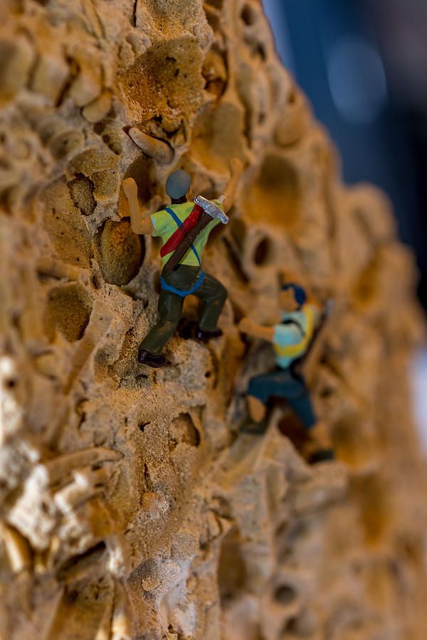 Fossil Rock climbing by Rainer Kersten