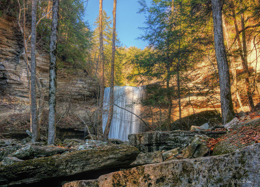 Waterfall Photograph - Lower Greeter Falls 1 by Dale Wilson