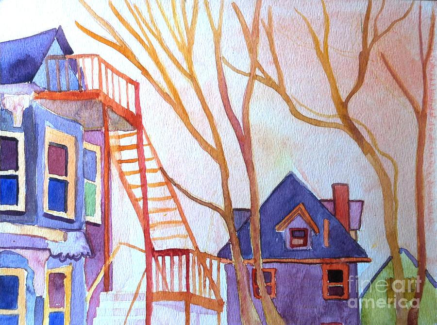 Watercolor Painting - Foster Street Lowell Watercolor by Debra Bretton Robinson