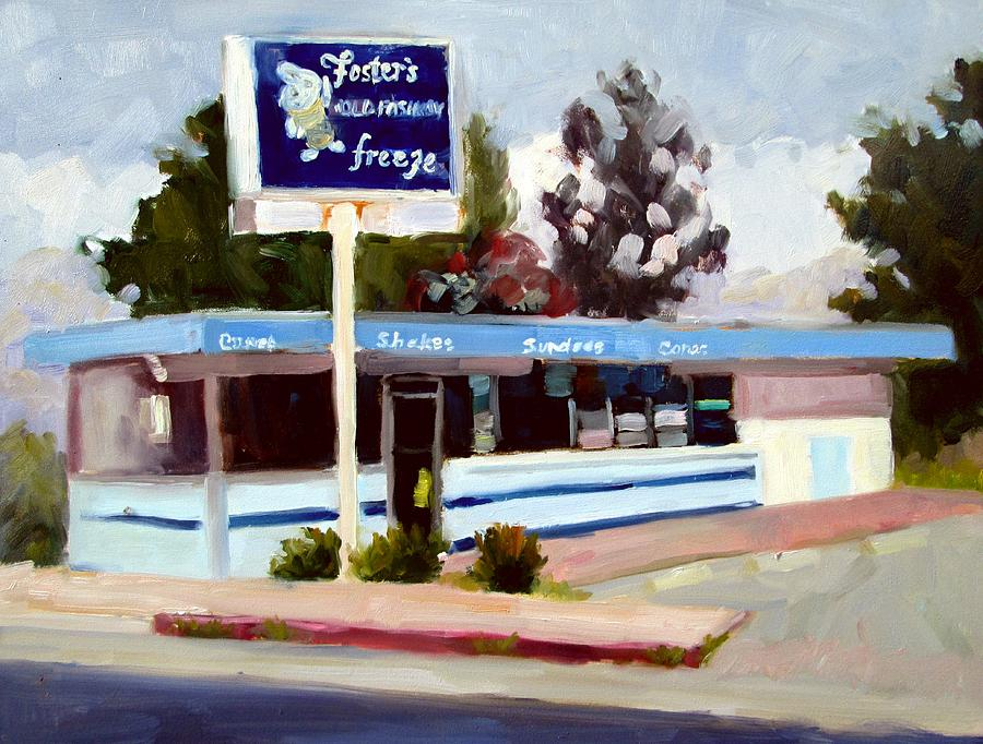 Fosters Painting - Fosters Freeze by Deborah Cushman