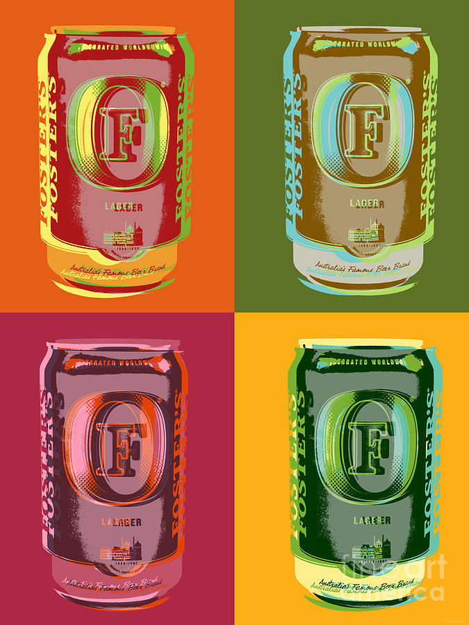 Foster Digital Art - Fosters lager Pop Art by Jean luc Comperat