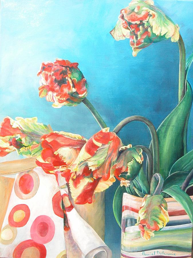 Still Life Painting - Foulard by Muriel Dolemieux