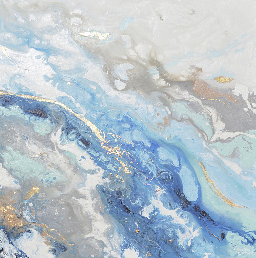 Found solace painting by christine krainock for Blue paintings on canvas