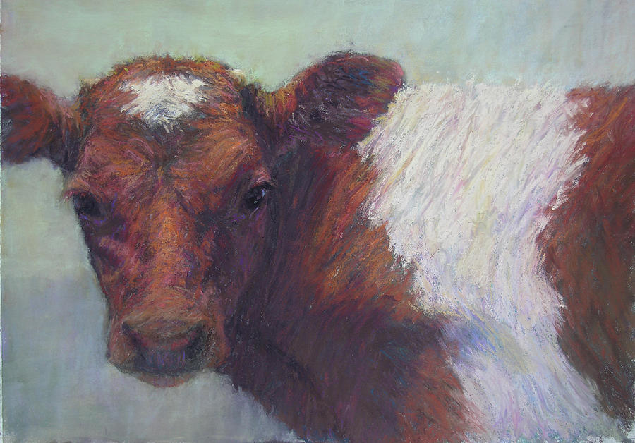 Cows Painting - Foundling by Susan Williamson