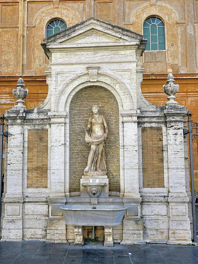 Fountain Photograph - Fountain In The Vatican City  by Richard Rosenshein