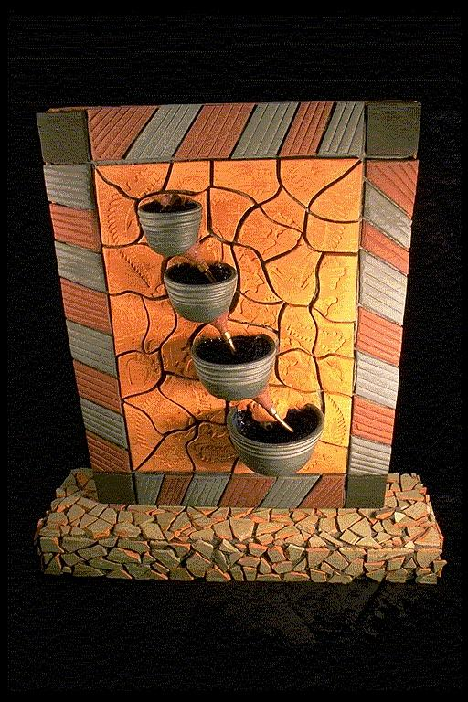 Fountain Ceramic Art by Kreg Owens