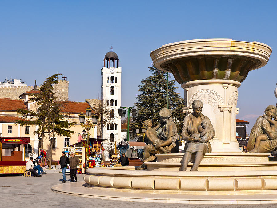 Skopje Photograph - Fountain Of The Mothers by Rae Tucker