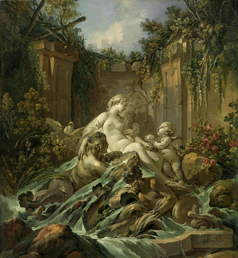 Fountain Painting - Fountain Of Venus by Francois Boucher
