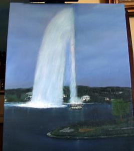 Fountain Painting - Fountain Serenity by Rana Adamchick