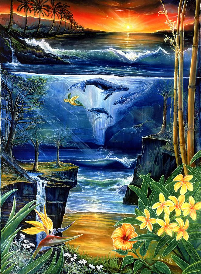 Spirit Of Creation Painting - Fountain by Sevan Thometz