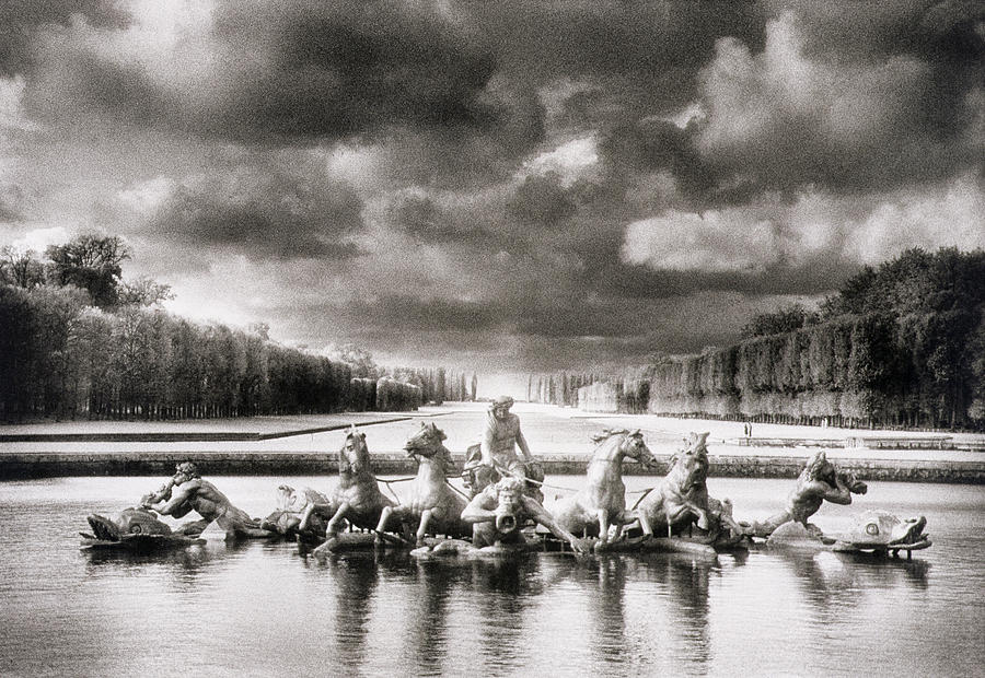Palace Of Versailles Photograph - Fountain With Sea Gods At The Palace Of Versailles In Paris by Simon Marsden