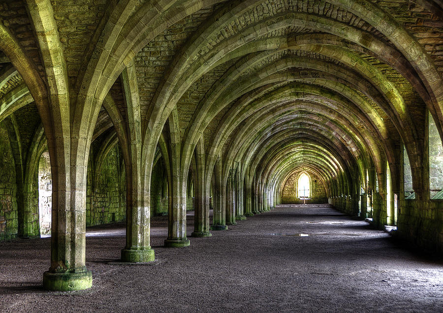 Castle Photograph - Fountains Abbey 3 by Svetlana Sewell