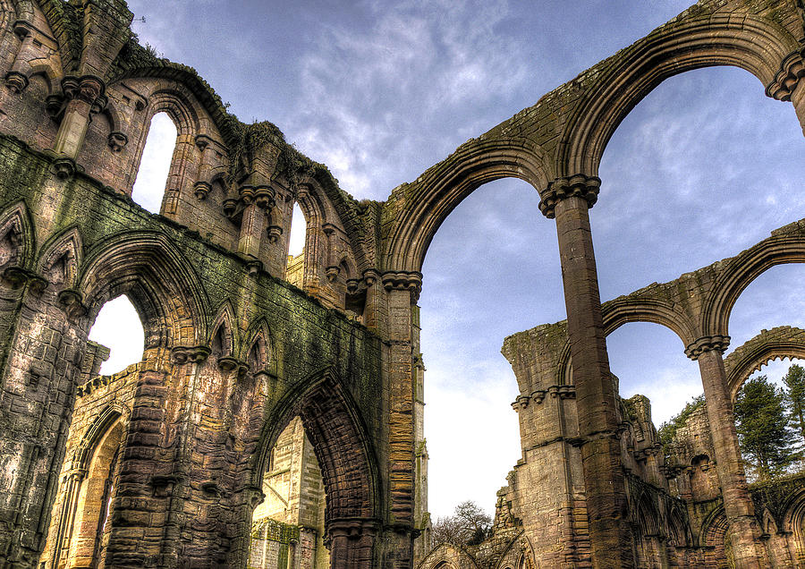 Castle Photograph - Fountains Abbey 5 by Svetlana Sewell