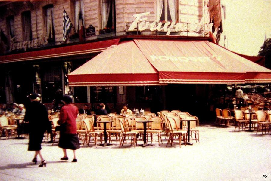 1955 Photograph - Fouquets Of Paris 1955 by Will Borden