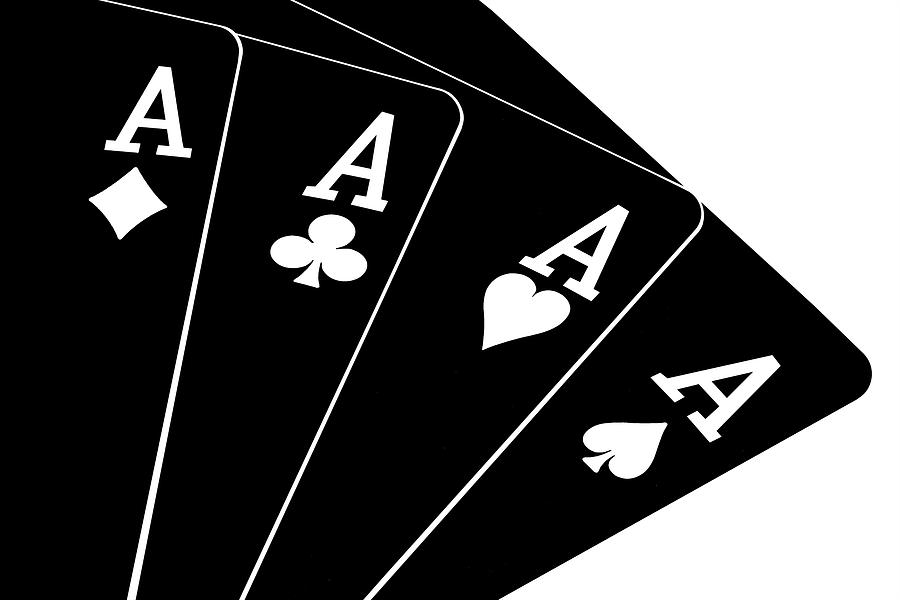 Cards Photograph - Four Aces II by Tom Mc Nemar