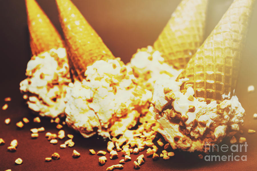 Four Artistic Ice-cream Cones Photograph by Jorgo Photography - Wall ...
