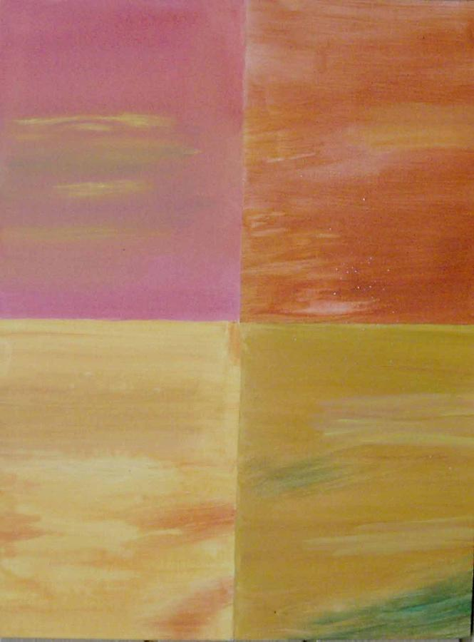 Squares Painting - Four Coloured Squares by Harris Gulko