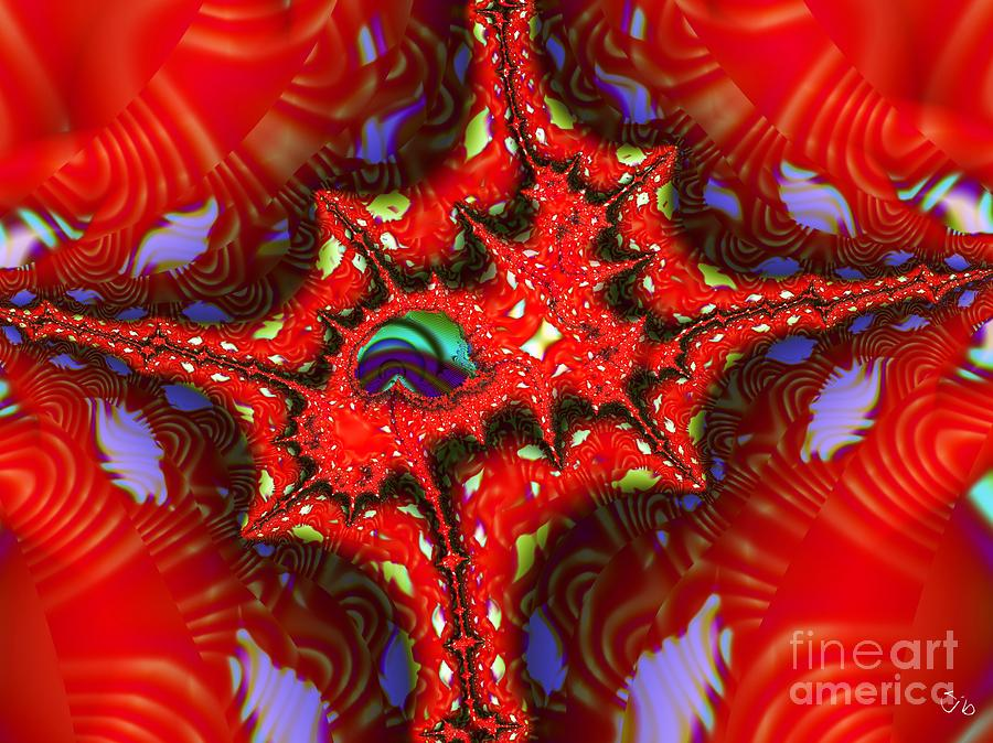 Four Corners Digital Art - Four Corners Seed Pod by Ron Bissett