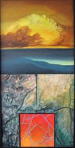Earth Wind Fire Water Painting - Four Elements  by David  McKee