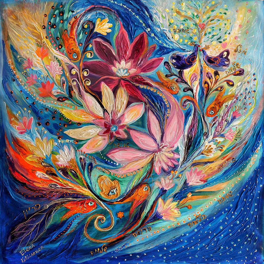 Judaica Store Painting - Four Elements IIi. Water by Elena Kotliarker