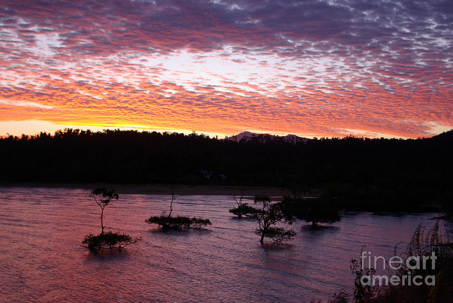 Landscape Photograph - Four Elements Sunset Sequence 3 Coconuts Qld by Kerryn Madsen - Pietsch