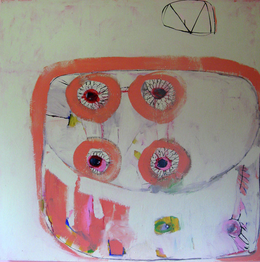 Abstract Painting - Four Eyes by Brooke Wandall