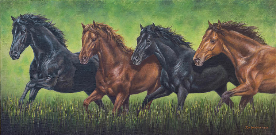 Four Horses by Kim Lockman
