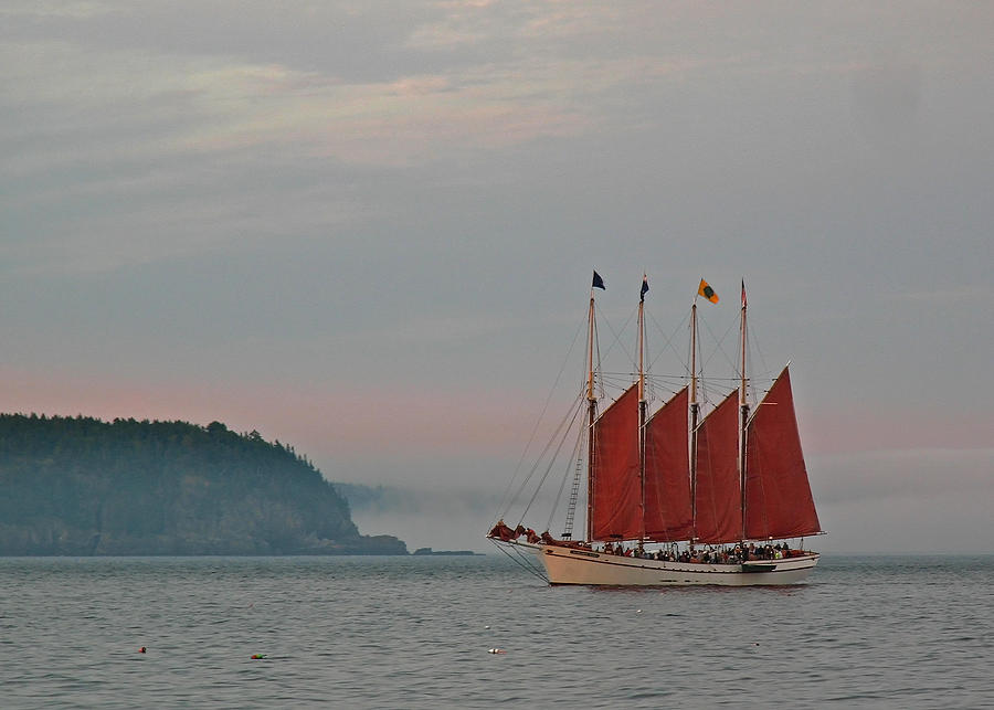 Bar Harbor Photograph - Four-masted Schooner The Margaret Todd by Juergen Roth