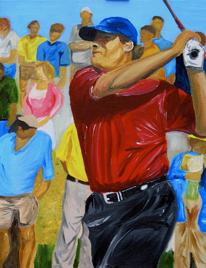 Golf Painting - Four by Michael Lee