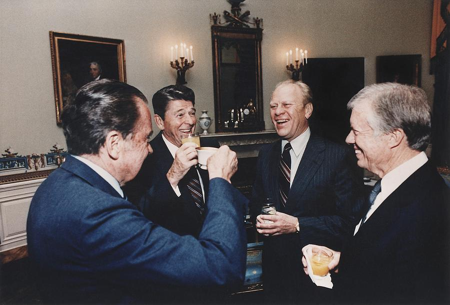 History Photograph - Four Presidents Nixon Reagan Ford by Everett