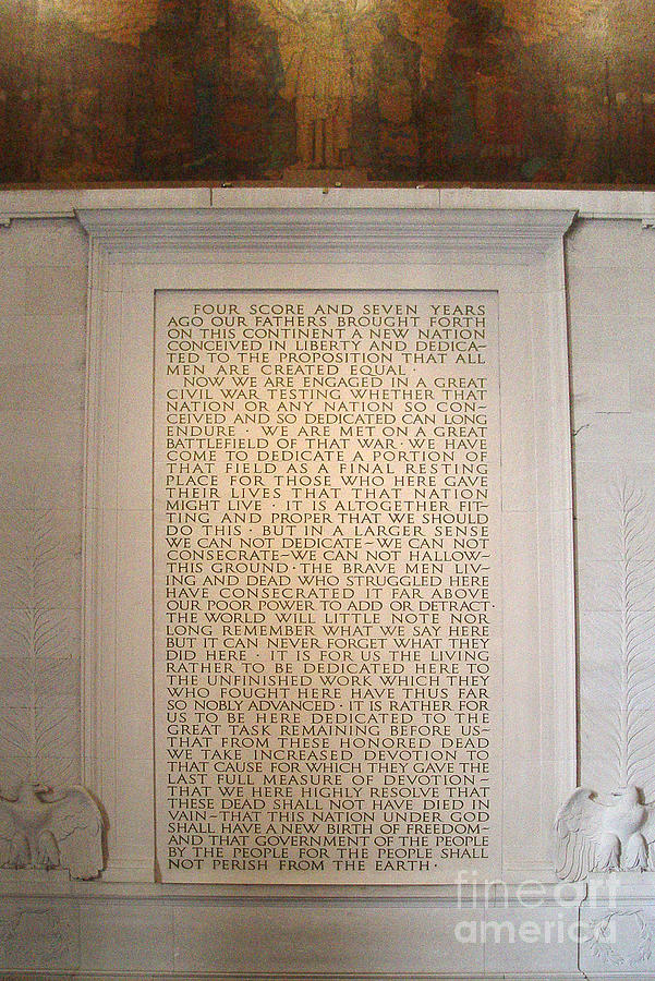 Four Score Speech at Lincoln Memorial by Tom Doud