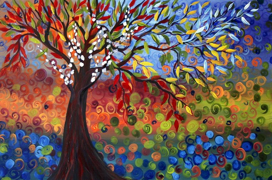 Four Seasons Painting By Luiza Vizoli