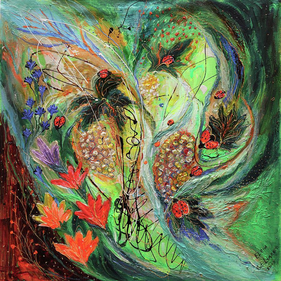 Fantasy Painting - Four Seasons Of Vine Summer by Elena Kotliarker