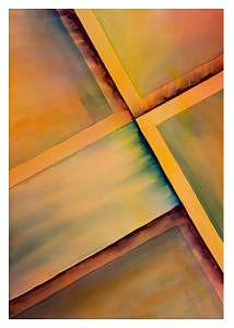 Four Squares Painting by Fred Noerdlinger