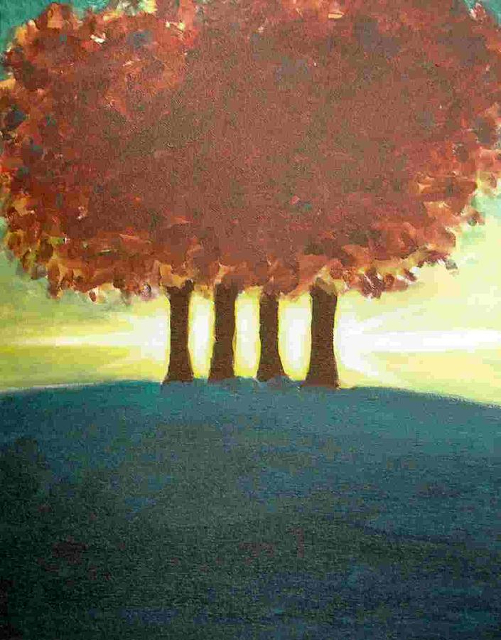 Trees Painting - Four Trees by David Truesdell
