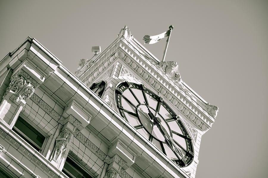 Clock Photograph - Four Twenty by Caroline Reyes-Loughrey