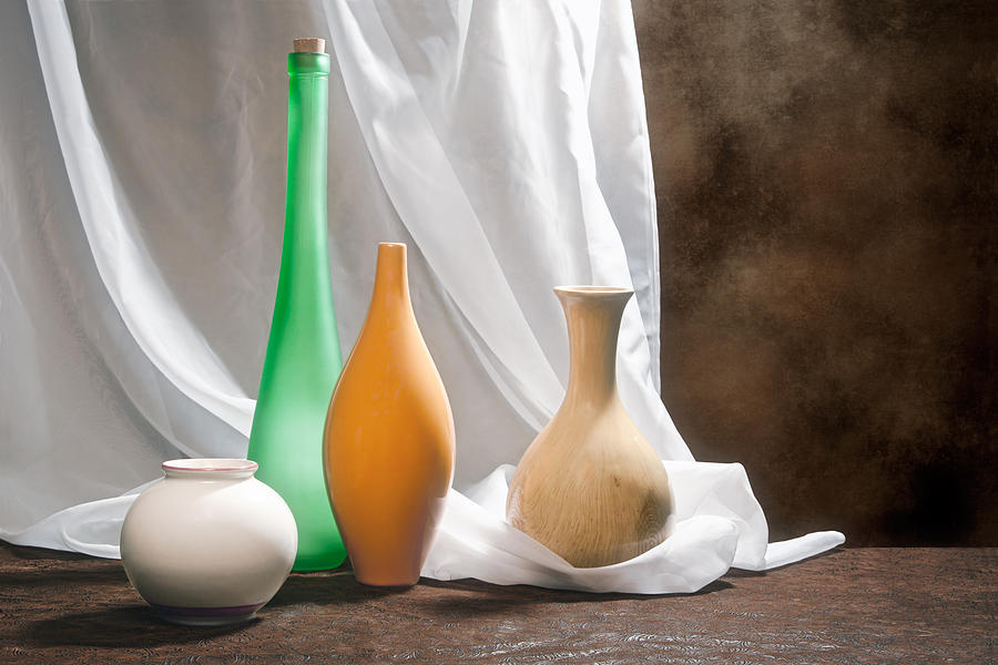 Vase Photograph - Four Vases II by Tom Mc Nemar