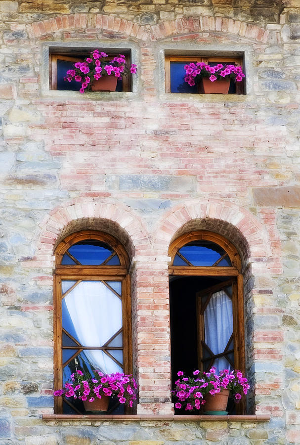 Architecture Photograph - Four Windows by Marilyn Hunt