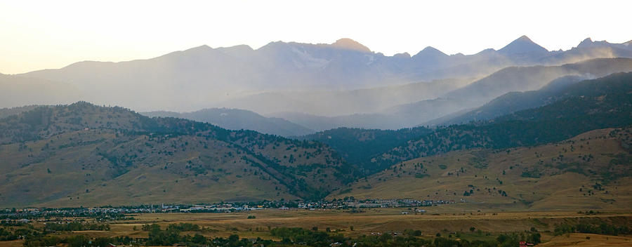 Colorado Photograph - Fourmile Canyon Wildfire Front Range Wind View 09-09-10 Panorama by James BO  Insogna